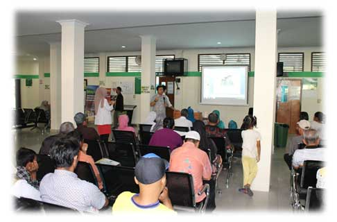 Kegiatan Penyuluhan Dalam Gedung Tim PKRS  RSUD Arifin Achmad Provinsi Riau