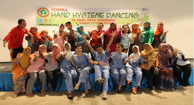 Rsud Arifin Achmad Turut Meriahkan Lomba Hand Hygiene Dancing