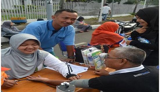 Tim PKRS  (Promosi Kesehatan Rumah Sakit) RSUD Arifin Achmad Menggelar Kegiatan  Di CFD