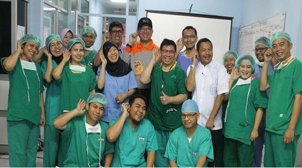 RSUD Arifin Achmad Gelar Baksos Operasi Gendang Telinga