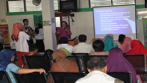 """Penyuluhan """" Management ASI """" PKRS RSUD Arifin Achmad Bersama KSM Anak"""