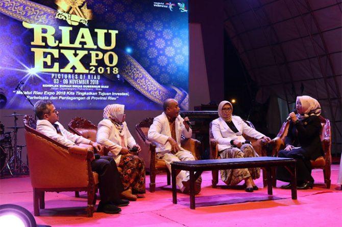 Dari Talk Show RSUD Arifin Achmad di Riau Expo 2018: Kanker Disebabkan Pola Hidup
