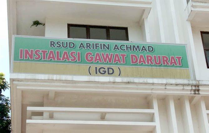 IGD RSUD Arifin Achmad Buka Tahun 2019 dengan Penanganan 57 Pasien