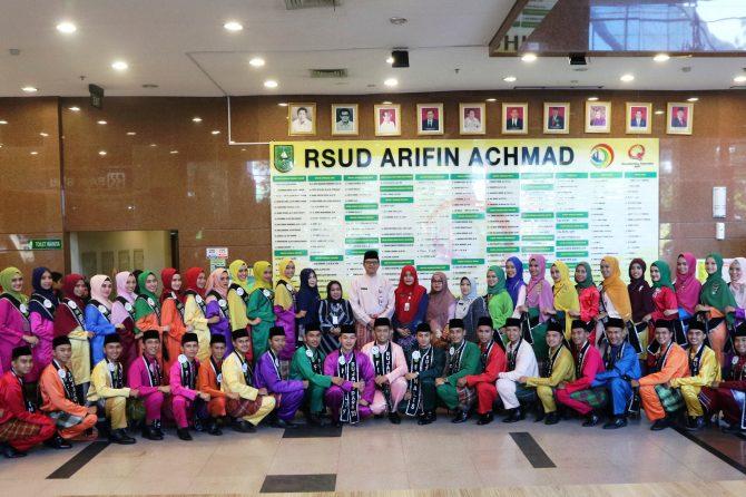 RSUD ARIFIN ACHMAD PROVINSI RIAU SAMBUT KEDATANGAN FINALIS BUJANG DARA RIAU 2019