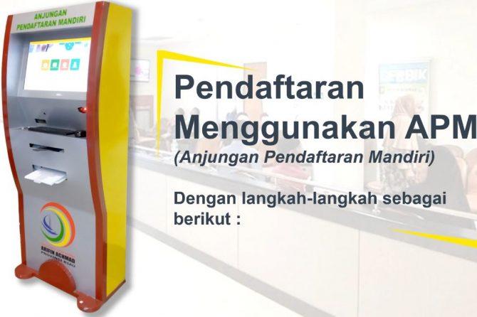 Ingin cepat daftar tanpa antri saat berobat di RSUD Arifin Achmad Provinsi Riau, APM Solusinya..