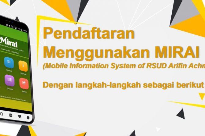 Prosedur Penggunaan Aplikasi MIRAI RSUD Arifin Achmad Provinsi Riau