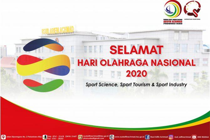 Bersempena dengan Hari Olahraga Nasional ke -37, RSUD Arifin Achmad Provinsi Riau bagikan manfaat berjalan kaki