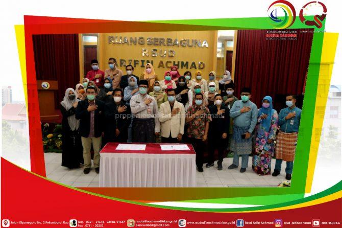 RSUD Arifin Achmad Provinsi Riau lakukan kerja sama dengan IDI dan PATELKI untuk siapkan relawan penanganan COVID-19