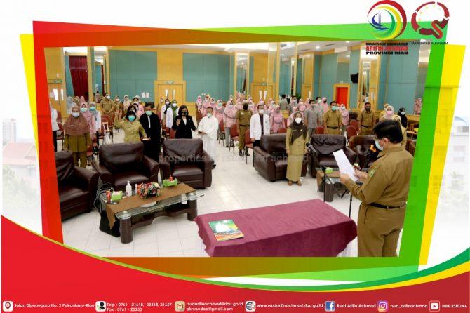 RSUD Arifin Achmad Provinsi Riau Lantik Pejabat Administrasi Dan Pejabat Fungsional
