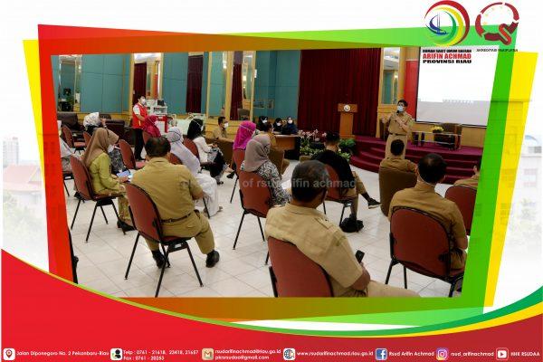 Menjadi Salah Satu OPD Untuk Pencanangan Zona Integritas WBK Dan WBBM, RSUD Arifin Achmad Provinsi Riau Gelar Pendampingan