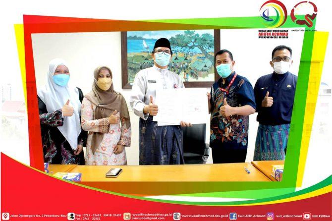 Tingkatkan efisiensi alur sistem farmasi, RSUD Arifin Achmad Provinsi Riau gelar MoU MIRAI SIMFARSAA